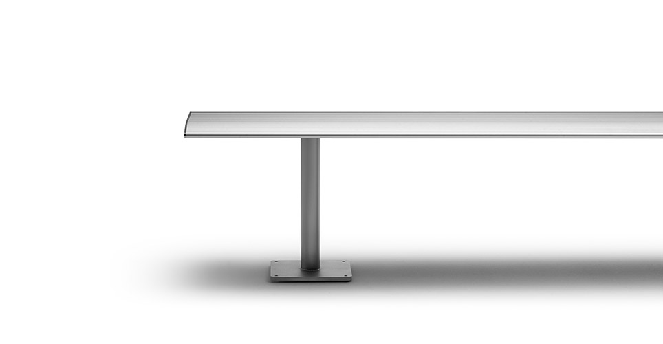 Sellex's  AERO Bench Fixed to Tier Selfstanding by Lievore Altherr Molina